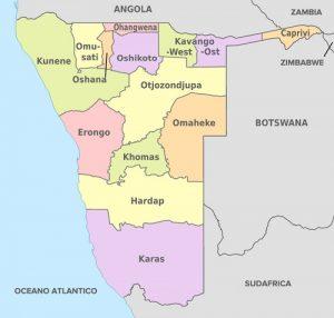 mappa Namibia